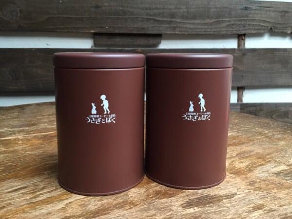 うさぎとぼく コーヒー豆保存缶