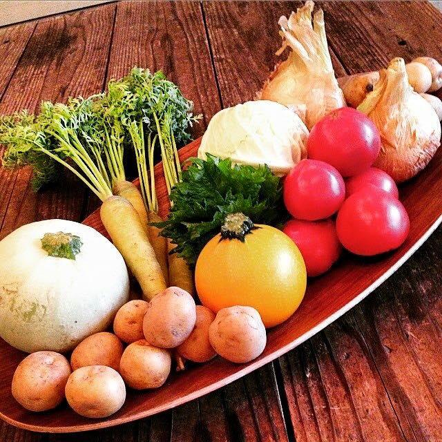 お隣BodyLaboさん前での無農薬野菜の販売は「つたえびと」さんに