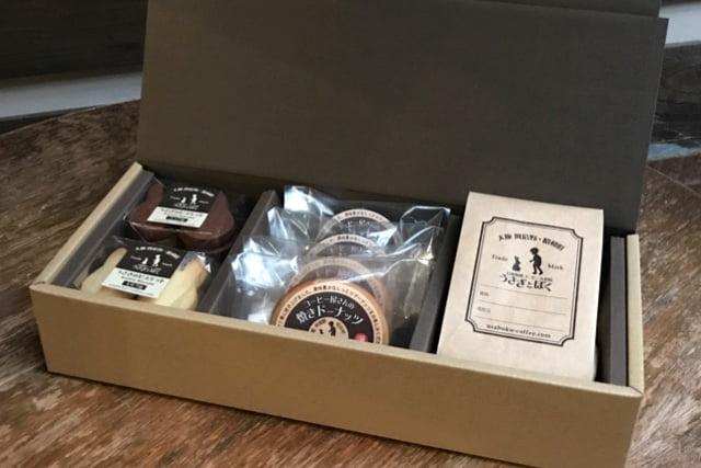 福祉施設の焼菓子とコーヒーのセット