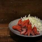 昭和のレストランを演出するには赤ウインナーがやっぱり外せないなぁ…と