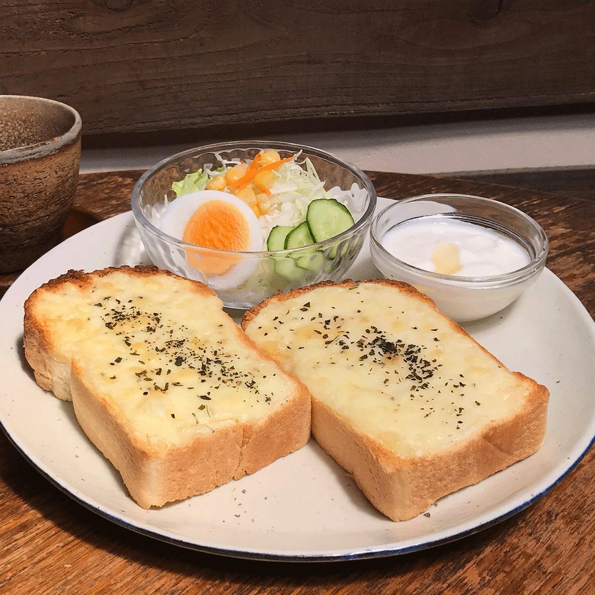 Usaboku's Breakfast: Cheese toast set