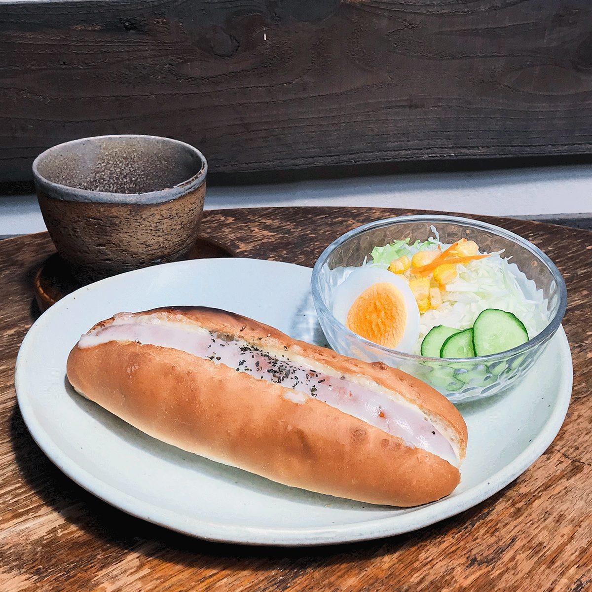 Usaboku's Lunche: Cheese Hotdog set